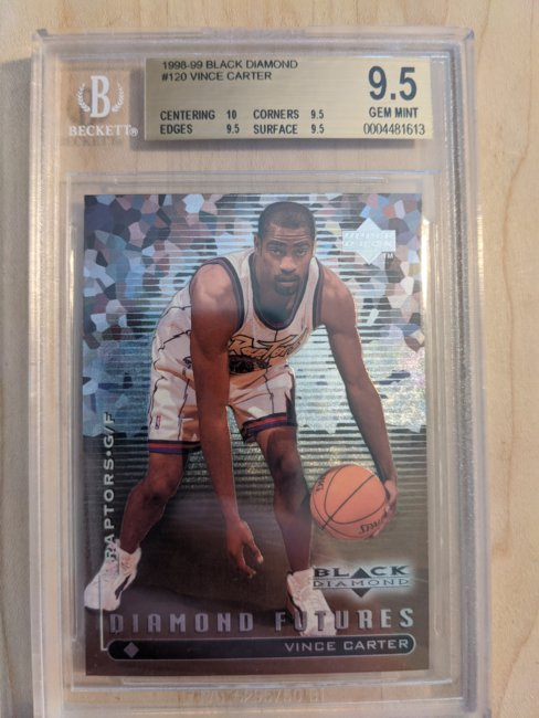 1998-99 Black Diamond #120 Vince Carter BGS Gem Mint 9.5