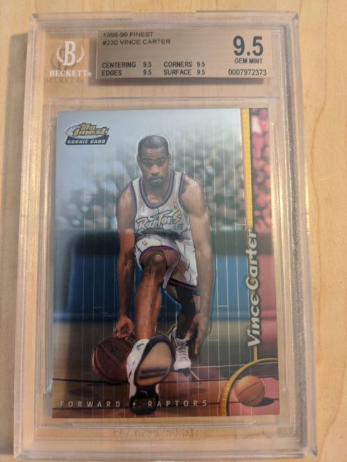 1998-99 Finest #230 Vince Carter BGS Gem Mint 9.5