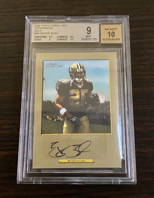 2006 Topps Turkey Red Autographs Gold #RB Reggie Bush/5 BGS 9/10