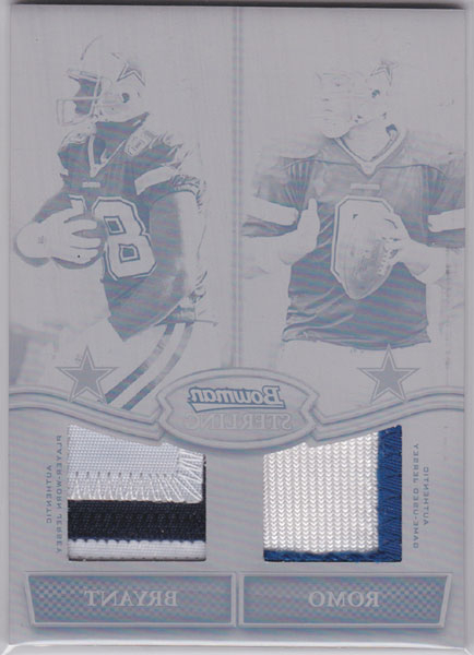 2010 Bowman Sterling Dual Jersey Box Topper Printing Plates #RB Tony Romo/Dez Bryant