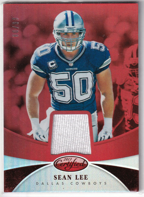 2013 Certified Mirror Red Materials #86 Sean Lee /99