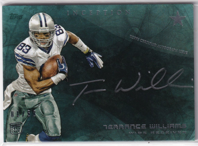 2013 Topps Inception Rookie Autographs Silver Ink #SSTWI Terrance Williams /50