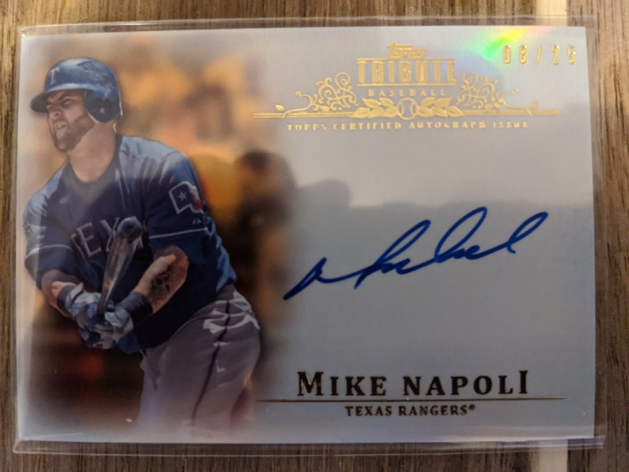 2013 Topps Tribute Mike Napoli /25