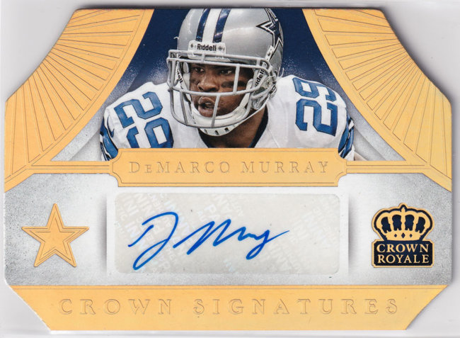 2014 Crown Royale Crown Signatures Gold Holofoil #83 DeMarco Murray /10