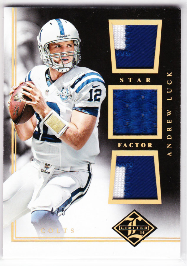 2014 Limited Star Factor Triple Material Gold #SFAL Andrew Luck /5
