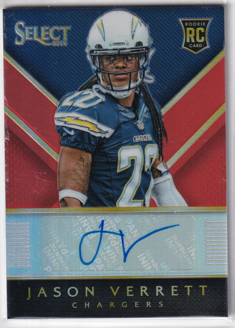 2014 Select Rookie Autographs Prizm Orange #RAJV Jason Verrett /35